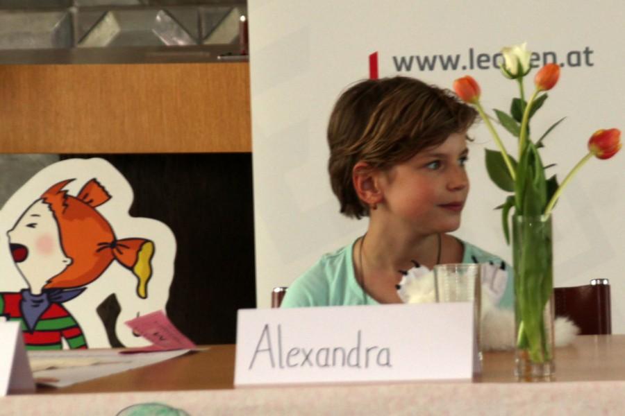 Bürgermeisterinnen-Kandidatin Alexandra bei ihrer Wahlrede