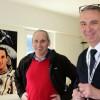 Kosmonaut Franz Viehböck mit Hans Friedrich Gaida vom KSV Motor Flugsportverein © Jana