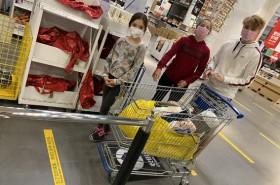 Shopping in Coronazeiten © Silke Kicker