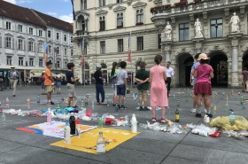 Aktion gegen Plastik © Kinderbüro – Die Lobby für Menschen